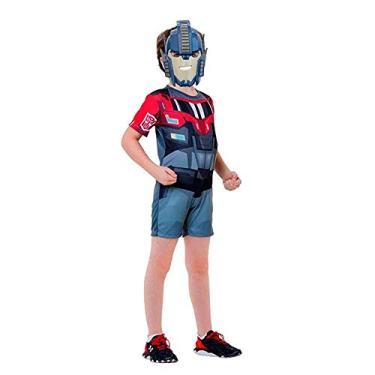 Fantasia Optimus Prime Infantil Curta Transformers G 9-12