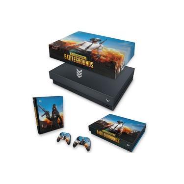 Capa Anti Poeira e Skin para Xbox One X - Players Unknown Battlegrounds Pubg