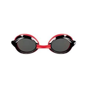 163a90e44 Óculos De Natação Vermelho Lente Fume Drive 3 Arena