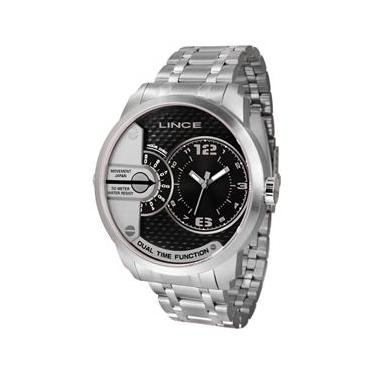 db104699750 Relogio Lince Masculino Mrmh049s P2sx Aço Dual Time