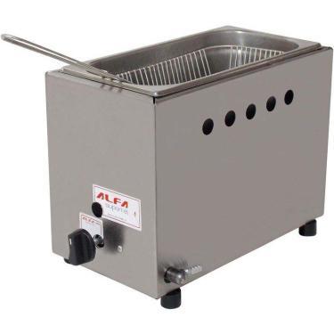 Fritadeira a Gás Inox Retangular Baixa Pressão 5L Alfa