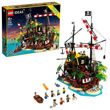 Imagem de LEGO Ideas Pirates of Barracuda Bay 21322 Building Kit, Cool Pirate Shipwreck Model with Pirate Action Figures for Play and Display, Makes a Great Birthday (2,545 Pieces)
