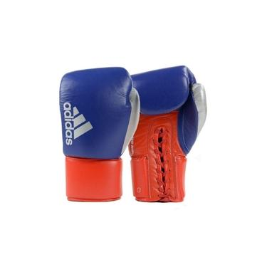 Luva de Boxe Muay Thai Hybrid Azul com Vermelho 18 Oz