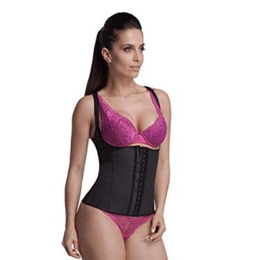 Cinta modeladora emborrachada feminina body corselet Esbelt ref. 458