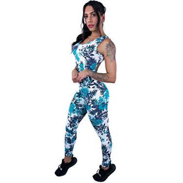 Macacão MVB Modas Longo Feminino Suplex Fitness