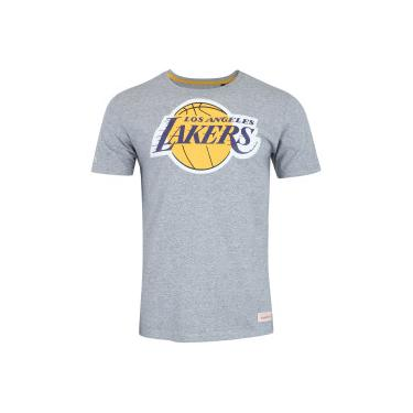 Camiseta Mitchell   Ness Los Angeles Lakers LG - Masculina - CINZA Mitchell    Ness 80fcd170c6e