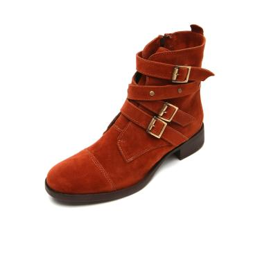a1a1f5bb85 Bota DAFITI SHOES Fivelas Caramelo DAFITI SHOES 7201 feminino