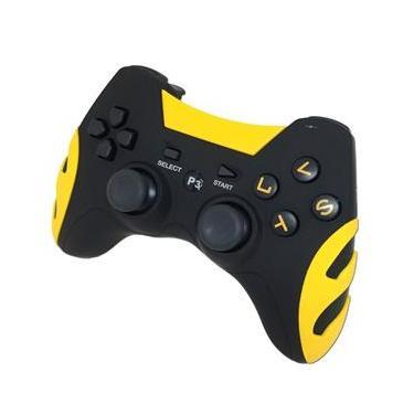 Controle Ps3 Sem Fio Play 3 Dualshock Playstation 3 Wireless - Amarelo