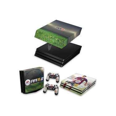 Capa Anti Poeira e Skin para PS4 Pro - Fifa 15