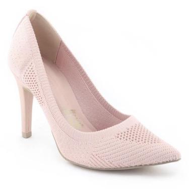 Sapato Scarpin Feminino Em Malha T1746 - Tanara