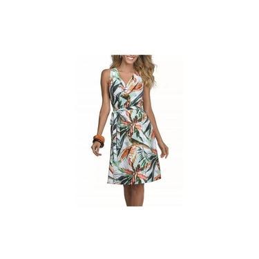 Vestido DeMillus Fashion 095510 branco estampado