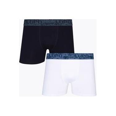 7f7d38be6 Kit Com 2 Cuecas Boxer Algodão Com Elastano 784-002 - Lupo
