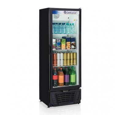 Refrigerador Expositor Vertical Frost Free 414L Profissional Gelopar 127V 306W Preto