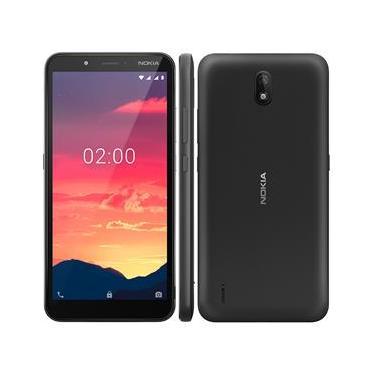 """Smartphone Nokia C2 Preto 32GB, Tela de 5,7"""" HD+, Câmera 5MP, Android 9.0 e Processador Spreadtrum UniSoC"""
