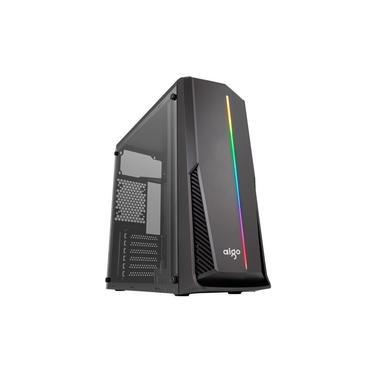 Gabinete Gamer Aigo Rainbow 6 Preto Lateral Acrilico