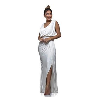 Vestido Longo Clara Arruda Costa Detalhe 50416 - G - Off White
