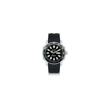 fd412b74ba0 Relógio Masculino Analógico Automático Mostrador Preto 469SS040 P1SX Scuba  Diver Orient Pulserira Extra Borracha