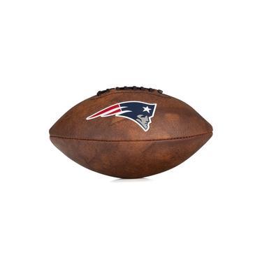 Bola de Futebol Americano Wilson NFL Jr Throwback Team Logo England Patriots Marrom
