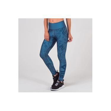 Calça Legging Fila Dupla Face - Azul