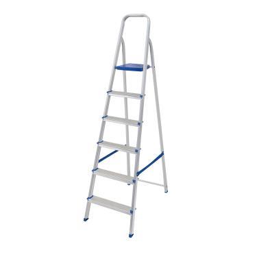 Imagem de Escada Dobrável Em Alumínio 6 Degraus Mor 5104