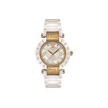 6633ab27978 Relógio De Pulso Feminino Versace V262 Caixa Aço Pulseira Silicone