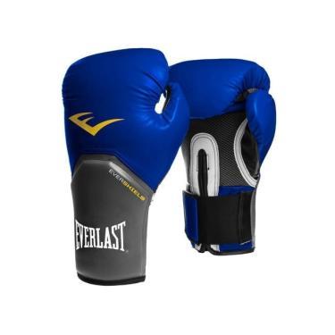 fe6975f8f Luva Boxe Elite Pro Style Everlast - Azul - 12oz
