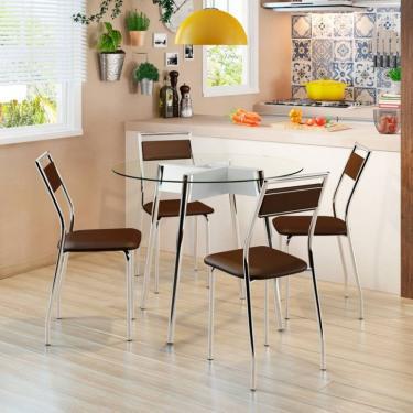 ab360a700fd Mesas e Cadeiras para Sala de Jantar Redonda Cromado