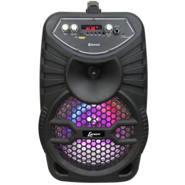 Caixa de Som Amplificada Lenoxx CA100, 120W, Bluetooth, USB, Bateria Interna, Karaokê - Bivolt