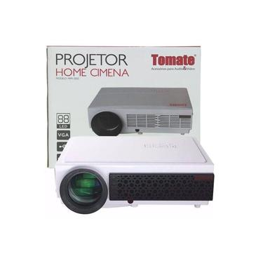 Projetor De Led Full HD Datashow 3000 Lumens Home Cinema 1080p USB Até 120´´ Tomate Mpr-2002