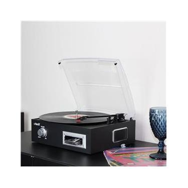 Vitrola Toca Disco de Vinil e Fita Cassete K7 com Conversor Digital e Alto Falantes Toca Discos Uitech