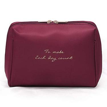 AKDSteel Bolsa de viagem de nylon cúbico impermeável portátil vermelho vinho