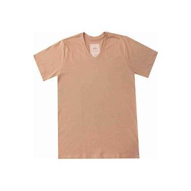 Camiseta Masculina Pau a Pique Bege