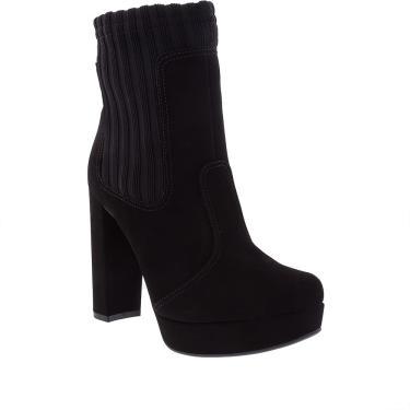 Ankle Boots Bebecê Salto Grosso Sock Preto