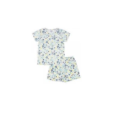 Conjunto Pijama Infantil Corações Branco Sapekinhas - SK1008-BR