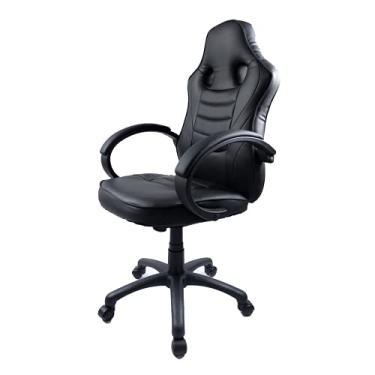 Cadeira Gamer FX Racer PU Reclinável Giratória Preta Altura Ajustável Função Relax
