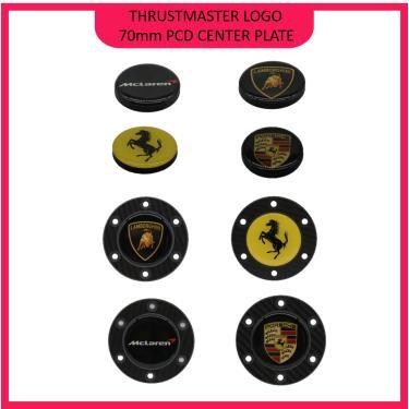 Imagem de Logotipo do volante de corrida para thrustmaster 70mm pcd centro da roda placas sim racing simracing