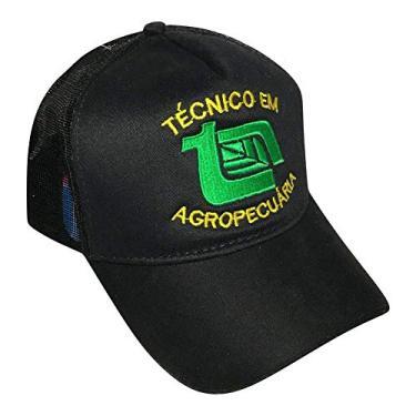 Boné Técnico Em Agropecuária Preto Trucker