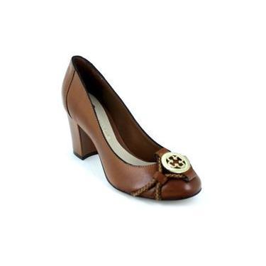 Sapato Scarpin Capodarte Bico Redondo Salto Grosso 4010799