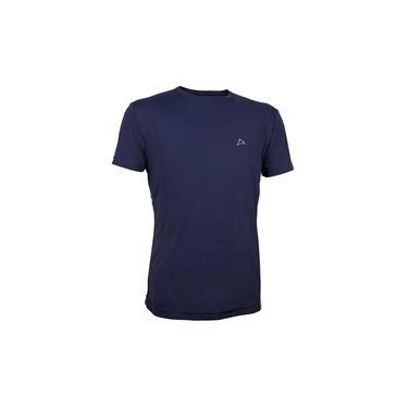 Camiseta Dry Cool UPF50+ Masculina MC Conquista Azul Marinho