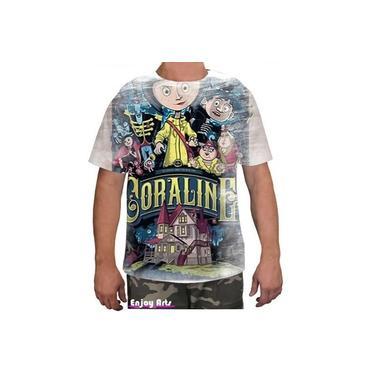 Camiseta Camisa Masculina Coraline Mundo Secreto Filme 10