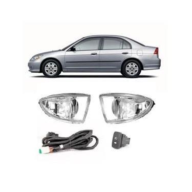 Kit Farol Milha Honda Civic 04/05- Sl-111710