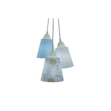 Lustre Pendente Luminária Quarto de Bebê Balão Tons de Azul