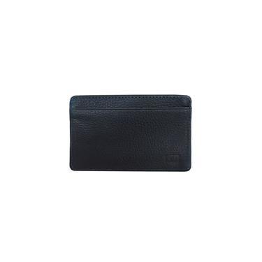 Carteira Calvin Klein Jeans Porta Cartão Couro CKJ Logo Azul Marinho