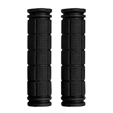 Delight eShop Garras de guidão (120 mm), manoplas de borracha para guidão MTB BMX Road Mountain Bike (1 par) (preto)