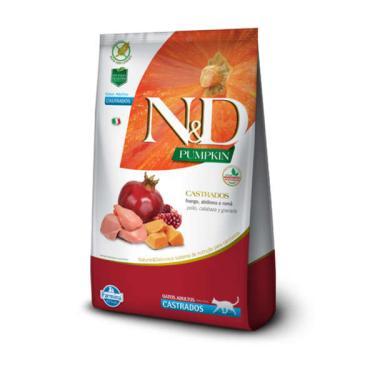 Ração Farmina N&D Pumpkin Frango, Abóbora e Romã para Gatos Adultos Castrados - 1,5 Kg