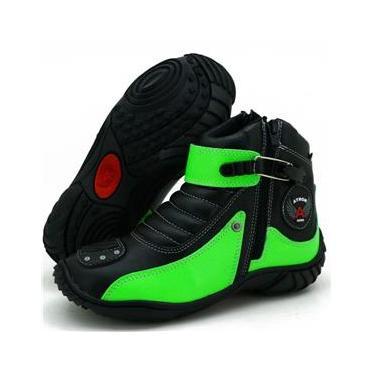 Bota Atron Shoes 271 Preta/Verde