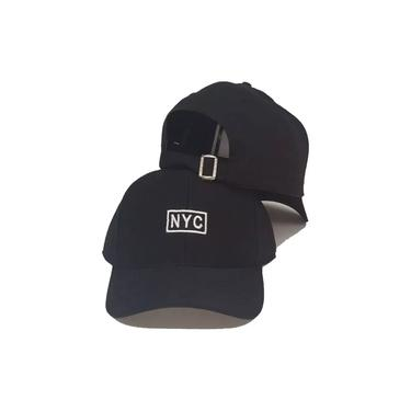 Boné Fitão New York City Ny Nyc Strapback Aba curva