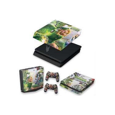 Capa Anti Poeira e Skin para PS4 Slim - Plants Vs Zombies Garden Warfare
