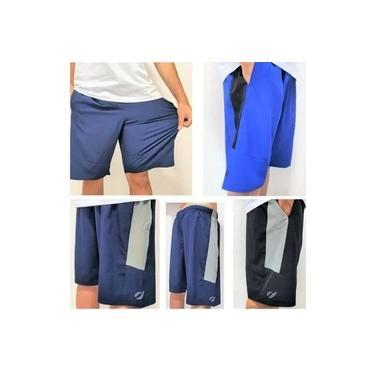 Kit 3 Bermuda Elástico Shorts Elastano D'agua Praia Academia