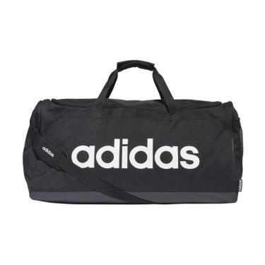 Mala Adidas Linear Duffle FM2400, Cor: Preto/Branco, Tamanho: U